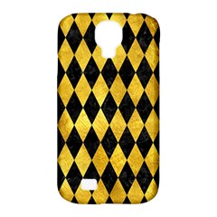Diamond1 Black Marble & Gold Paint Samsung Galaxy S4 Classic Hardshell Case (pc+silicone) by trendistuff