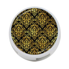 Damask1 Black Marble & Gold Paint (r) 4 Port Usb Hub (two Sides)  by trendistuff