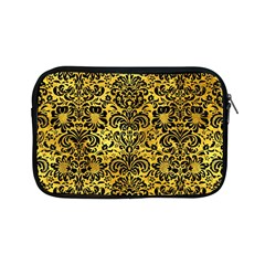 Damask2 Black Marble & Gold Paint Apple Ipad Mini Zipper Cases by trendistuff