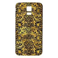 Damask2 Black Marble & Gold Paint Samsung Galaxy S5 Back Case (white) by trendistuff