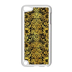 Damask2 Black Marble & Gold Paint (r) Apple Ipod Touch 5 Case (white) by trendistuff