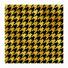 Houndstooth1 Black Marble & Gold Paint Medium Glasses Cloth by trendistuff