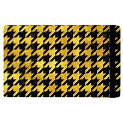 Houndstooth1 Black Marble & Gold Paint Apple Ipad Pro 9 7   Flip Case by trendistuff