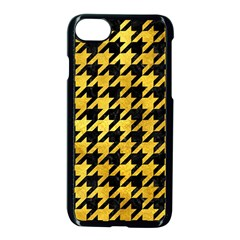 Houndstooth1 Black Marble & Gold Paint Apple Iphone 8 Seamless Case (black) by trendistuff
