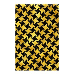 Houndstooth2 Black Marble & Gold Paint Shower Curtain 48  X 72  (small)