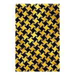 HOUNDSTOOTH2 BLACK MARBLE & GOLD PAINT Shower Curtain 48  x 72  (Small)  42.18 x64.8 Curtain