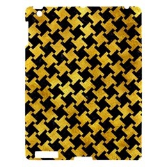 Houndstooth2 Black Marble & Gold Paint Apple Ipad 3/4 Hardshell Case by trendistuff