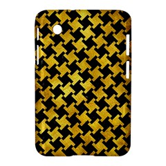 Houndstooth2 Black Marble & Gold Paint Samsung Galaxy Tab 2 (7 ) P3100 Hardshell Case  by trendistuff