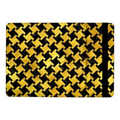 Houndstooth2 Black Marble & Gold Paint Samsung Galaxy Tab Pro 10 1  Flip Case by trendistuff