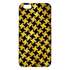 Houndstooth2 Black Marble & Gold Paint Iphone 6 Plus/6s Plus Tpu Case by trendistuff