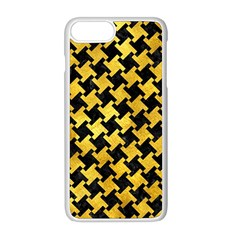 Houndstooth2 Black Marble & Gold Paint Apple Iphone 8 Plus Seamless Case (white) by trendistuff