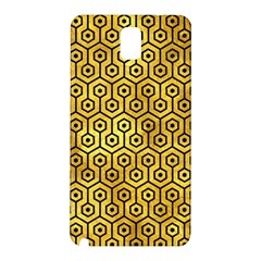 Hexagon1 Black Marble & Gold Paint Samsung Galaxy Note 3 N9005 Hardshell Back Case by trendistuff
