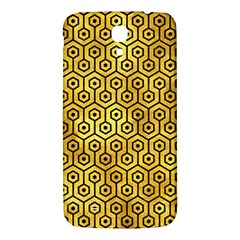 Hexagon1 Black Marble & Gold Paint Samsung Galaxy Mega I9200 Hardshell Back Case by trendistuff