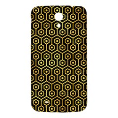 Hexagon1 Black Marble & Gold Paint (r) Samsung Galaxy Mega I9200 Hardshell Back Case by trendistuff