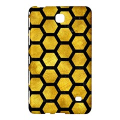 Hexagon2 Black Marble & Gold Paint Samsung Galaxy Tab 4 (8 ) Hardshell Case  by trendistuff
