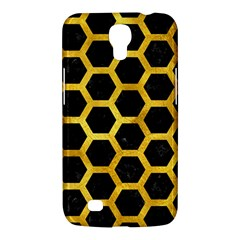 Hexagon2 Black Marble & Gold Paint (r) Samsung Galaxy Mega 6 3  I9200 Hardshell Case by trendistuff