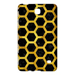 Hexagon2 Black Marble & Gold Paint (r) Samsung Galaxy Tab 4 (8 ) Hardshell Case  by trendistuff