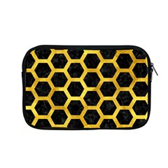 Hexagon2 Black Marble & Gold Paint (r) Apple Macbook Pro 13  Zipper Case by trendistuff