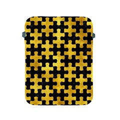 Puzzle1 Black Marble & Gold Paint Apple Ipad 2/3/4 Protective Soft Cases by trendistuff
