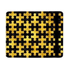 Puzzle1 Black Marble & Gold Paint Samsung Galaxy Tab Pro 8 4  Flip Case by trendistuff