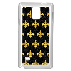 Royal1 Black Marble & Gold Paint Samsung Galaxy Note 4 Case (white) by trendistuff