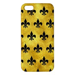 Royal1 Black Marble & Gold Paint (r) Apple Iphone 5 Premium Hardshell Case by trendistuff