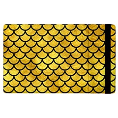 Scales1 Black Marble & Gold Paint Apple Ipad 3/4 Flip Case by trendistuff
