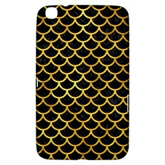Scales1 Black Marble & Gold Paint (r) Samsung Galaxy Tab 3 (8 ) T3100 Hardshell Case  by trendistuff