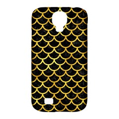 Scales1 Black Marble & Gold Paint (r) Samsung Galaxy S4 Classic Hardshell Case (pc+silicone) by trendistuff