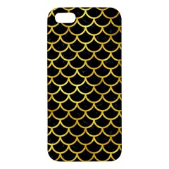 Scales1 Black Marble & Gold Paint (r) Iphone 5s/ Se Premium Hardshell Case by trendistuff