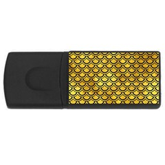 Scales2 Black Marble & Gold Paint Rectangular Usb Flash Drive by trendistuff