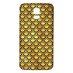 Scales2 Black Marble & Gold Paint Samsung Galaxy S5 Back Case (white) by trendistuff