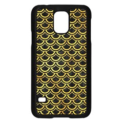 Scales2 Black Marble & Gold Paint (r) Samsung Galaxy S5 Case (black) by trendistuff