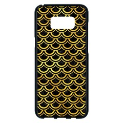 Scales2 Black Marble & Gold Paint (r) Samsung Galaxy S8 Plus Black Seamless Case by trendistuff
