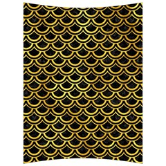 Scales2 Black Marble & Gold Paint (r) Back Support Cushion