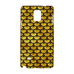 Scales3 Black Marble & Gold Paint Samsung Galaxy Note 4 Hardshell Case by trendistuff