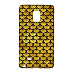 Scales3 Black Marble & Gold Paint Galaxy Note Edge by trendistuff
