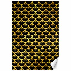 Scales3 Black Marble & Gold Paint (r) Canvas 20  X 30   by trendistuff