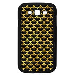 Scales3 Black Marble & Gold Paint (r) Samsung Galaxy Grand Duos I9082 Case (black) by trendistuff