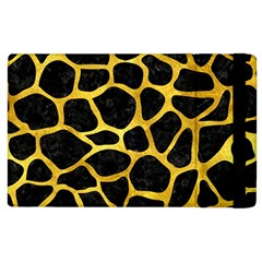 Skin1 Black Marble & Gold Paint Apple Ipad 2 Flip Case