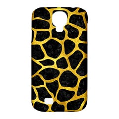 Skin1 Black Marble & Gold Paint Samsung Galaxy S4 Classic Hardshell Case (pc+silicone) by trendistuff