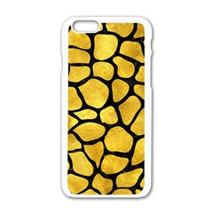 Skin1 Black Marble & Gold Paint (r) Apple Iphone 6/6s White Enamel Case by trendistuff