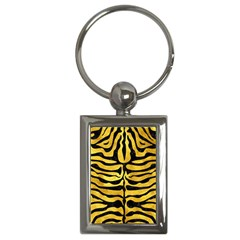 Skin2 Black Marble & Gold Paint Key Chains (rectangle)  by trendistuff