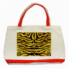 Skin2 Black Marble & Gold Paint Classic Tote Bag (red)