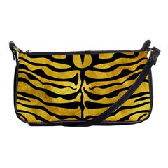 Skin2 Black Marble & Gold Paint Shoulder Clutch Bags by trendistuff