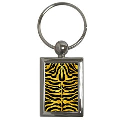 Skin2 Black Marble & Gold Paint (r) Key Chains (rectangle)  by trendistuff