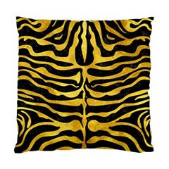 Skin2 Black Marble & Gold Paint (r) Standard Cushion Case (two Sides) by trendistuff