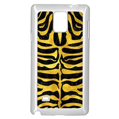 Skin2 Black Marble & Gold Paint (r) Samsung Galaxy Note 4 Case (white) by trendistuff