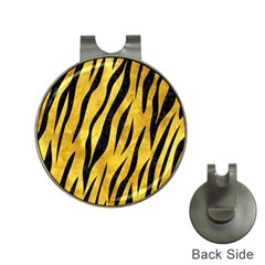 Skin3 Black Marble & Gold Paint Hat Clips With Golf Markers by trendistuff