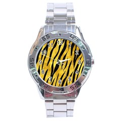 Skin3 Black Marble & Gold Paint Stainless Steel Analogue Watch by trendistuff